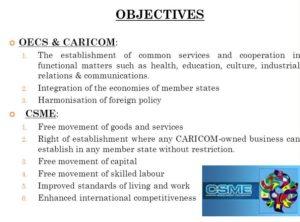 caricom csme oecs objectives